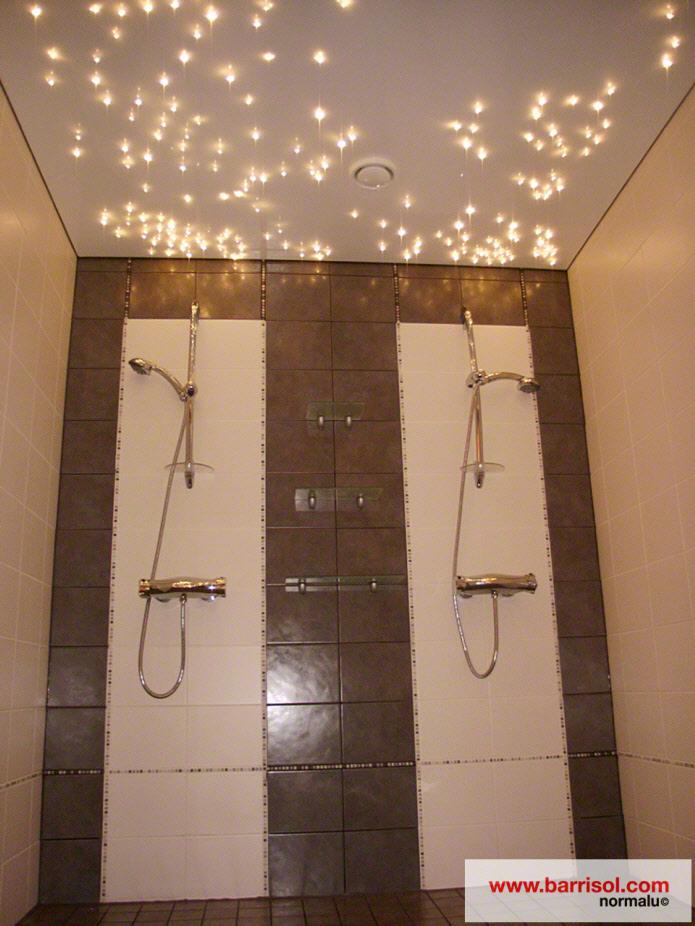 Photos plafond tendu eclairage fibre optique - Etoiles fluorescentes plafond chambre ...