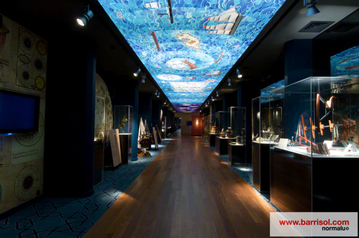 plafond tendu barrisol 3d avec toile imprim 233 e lumineuse
