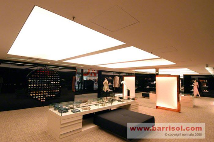 Photos plafond tendu plafond lumineux for Faux plafond translucide