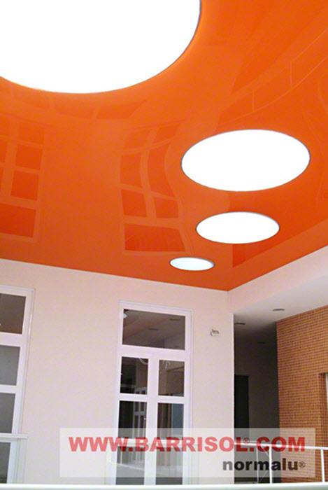 Photos de projets de plafond tendu lumi re for Faux plafond translucide