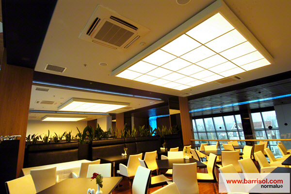 Imagine new possibilities with Barrisol stretch ceiling tiles