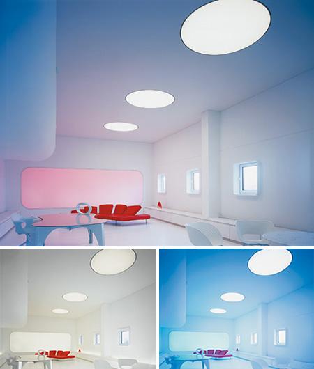 mural lumi re color. Black Bedroom Furniture Sets. Home Design Ideas