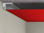 Lisse de fixation Barrisol Mini Star au plafond - Etape 3
