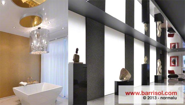 Plafond tendu barrisol mirror for Miroir projector stand