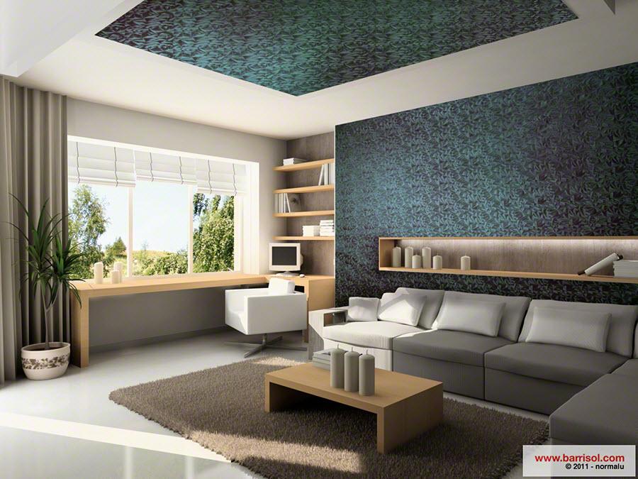 Photos de r alisations for Plafond decoratif salon