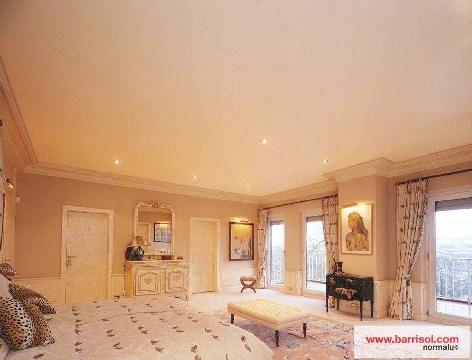 photos de plafonds tendu dans des chambres avec spots. Black Bedroom Furniture Sets. Home Design Ideas