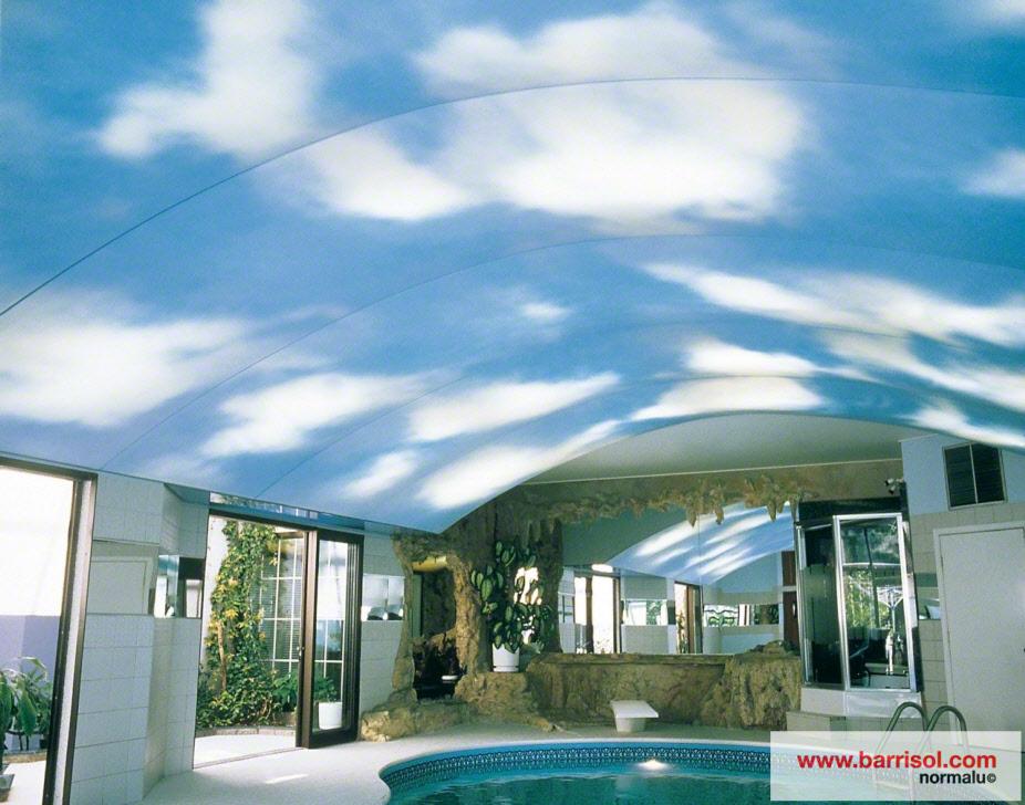 photos plafond tendu particulier piscine. Black Bedroom Furniture Sets. Home Design Ideas
