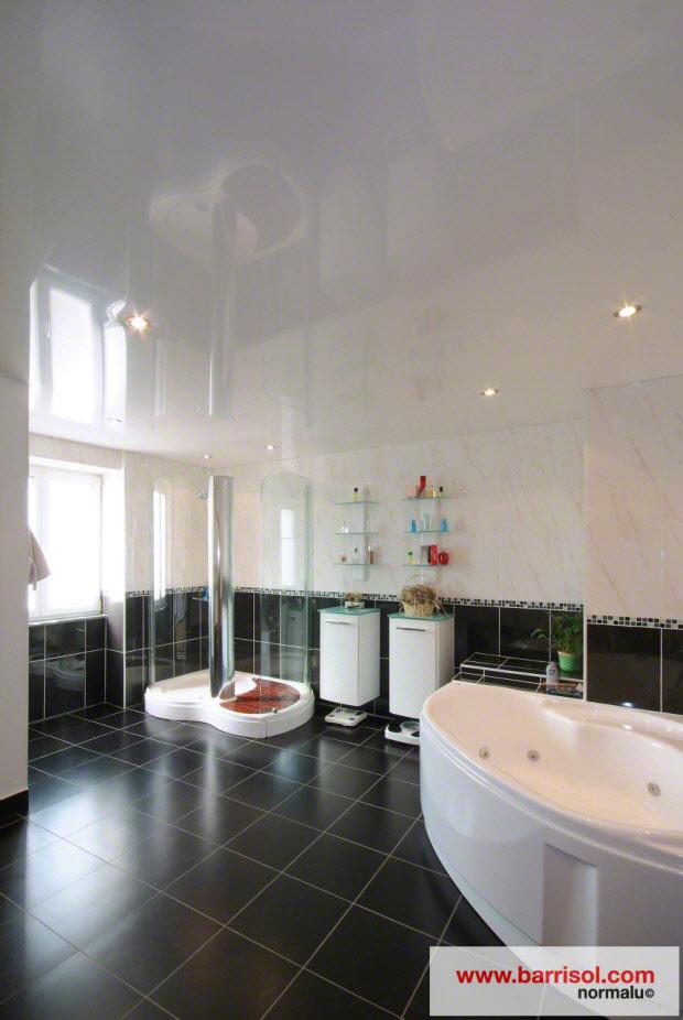 Photos plafond tendu particulier salle de bain - Renover plafond salle de bain ...