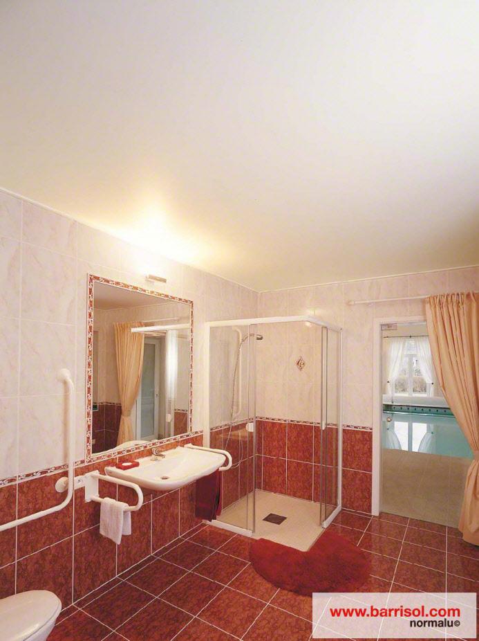 photos plafond tendu particulier : salle de bain - Plafond Tendu Salle De Bain