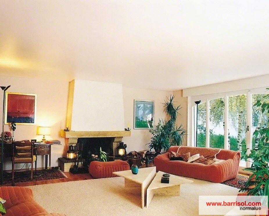 photos plafond tendu particulier salon. Black Bedroom Furniture Sets. Home Design Ideas