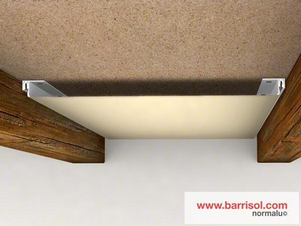 Pose plaque de placo plafond reims prix travaux renovation salle de bain papier peint blanc - Comment fixer un sac de frappe au plafond ...