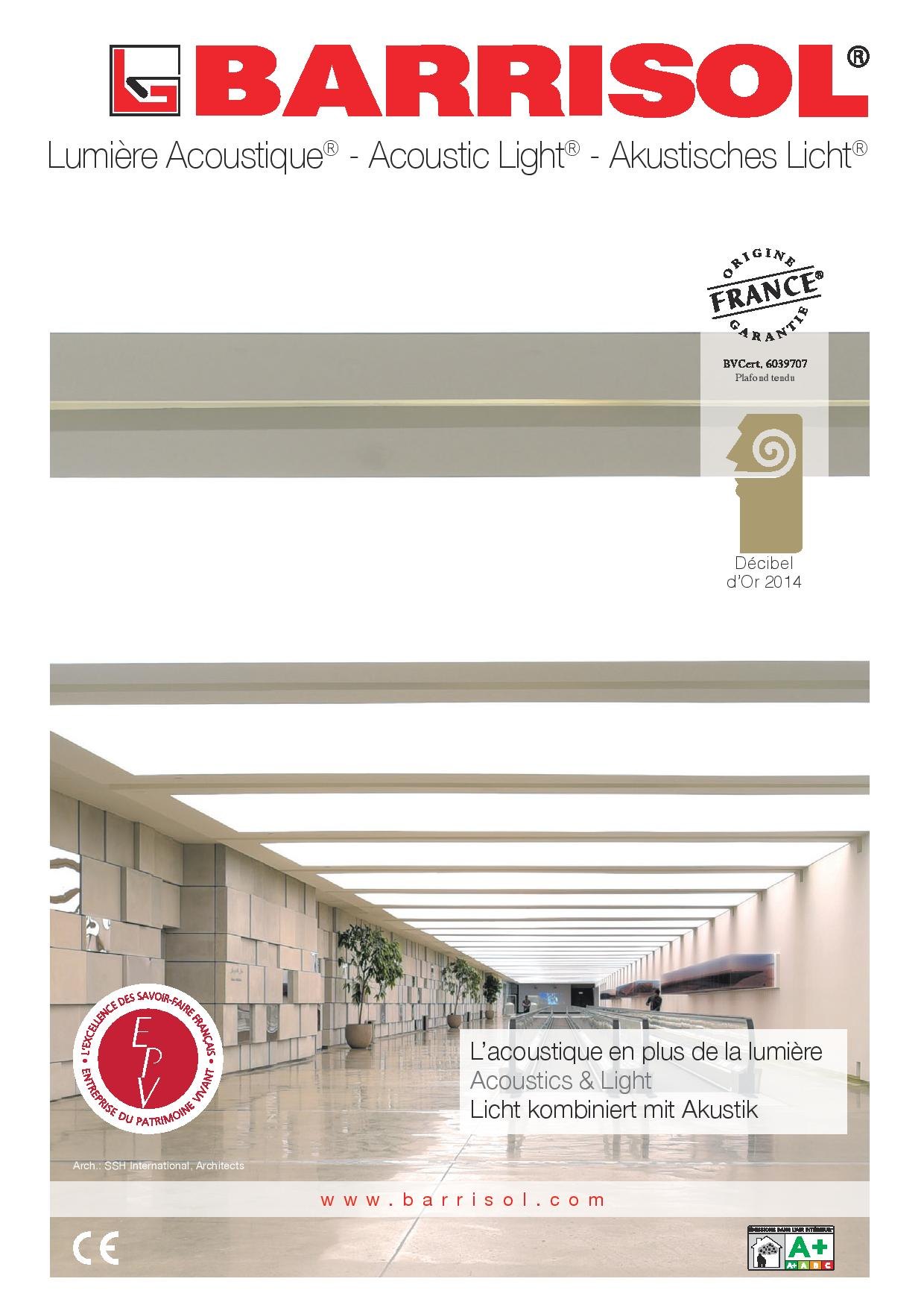 BARRISOL Acoustic light®