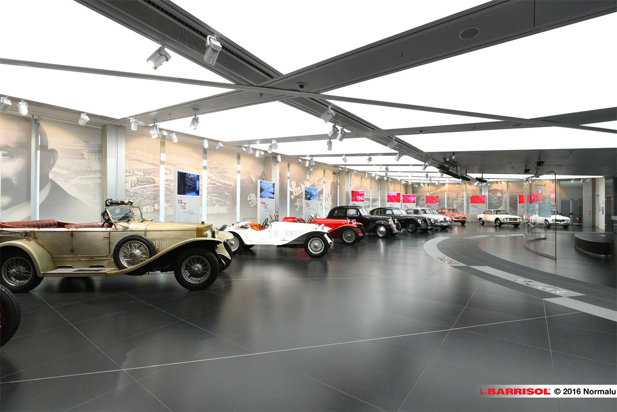 alfa romeo historical museum, italy - projet d'exception barrisol