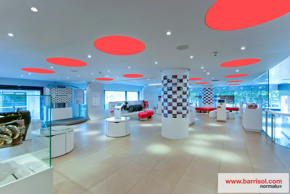 toyota showroom france projet d exception barrisol