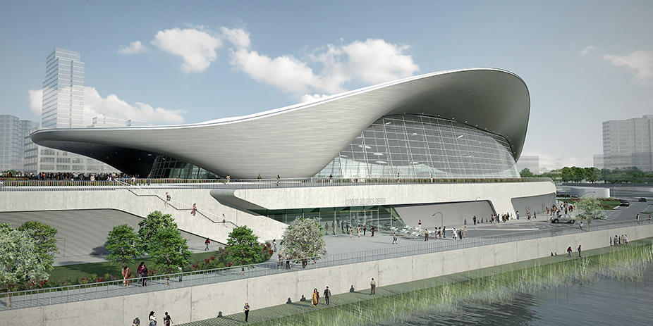 Aquatics Center <br><p style='text-transform: uppercase; color: #6F6F6F;'>United Kingdom</p>