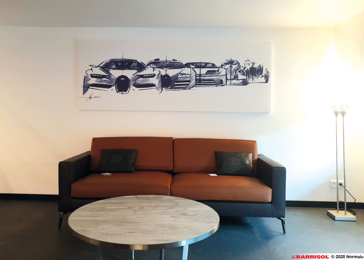 Showroom Bugatti - Barrisol